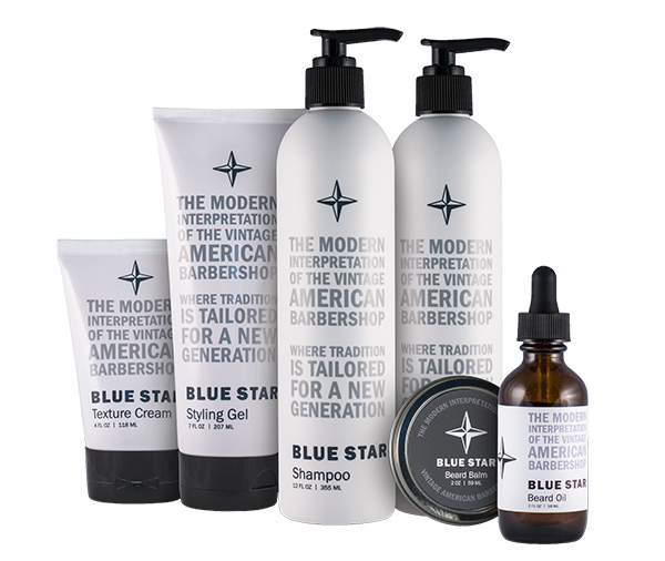Blue Star Product — Beard Oil, Shampoo, and Hair Products